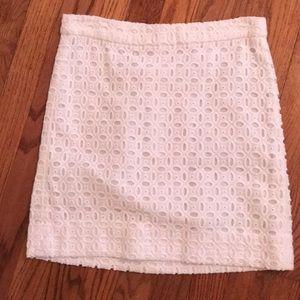 J. Crew white eyelet mini skirt